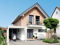 E 15-125.1 von SchwörerHaus  ➤ Alle Häuser unter: https://www.fertighaus.de/haeuser/suche/  Fertighaus, Einfamilienhaus, Fertigteilhaus, Satteldachhaus, Eigenheim, Fertigbau