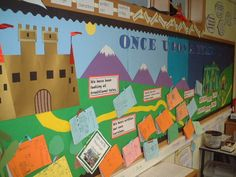 Traditional Tales fairy takes bulletin board display Castle Classroom, Year 1 Classroom, Fairy Tale Crafts, Fairy Tale Theme, Traditional Fairy Tales, Traditional Stories, School Displays, Classroom Displays, Castles Topic