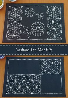 I'll be stitching up these beautiful sashiko tea mats using fantastic kits I found on Etsy. #sashiko #placemat #TLad