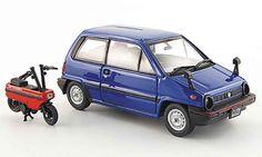 Honda City blue avec Motocompo Minimotorrad 1981 Ebbro diecast model car 1/43 - Buy/Sell Diecast car on Alldiecast.us