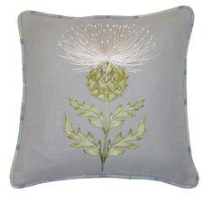 Scottish thistle pillow