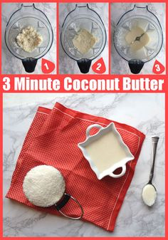 How to Make Coconut Butter (in only 3 minutes)