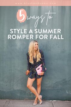 Fall is my FAVORITE time of year! But I also miss my cute summer clothes. You too? Let me show you how to style your summer romper for fall! Rompers are quickly becoming a wardrobe staple so you'll definitely want to see how to style this fashion forward piece for fall! #fallfavorites #fallvibes #howtostylearomper #wardrobestaple #letselevateyourstyle