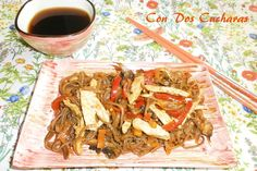 Fideos soba con pollo y verduras Fideos Soba, Pasta, Japchae, Ethnic Recipes, Food, The World, Ethnic Food, Cooking Recipes, Plate