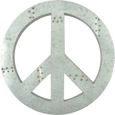 Peace Sign Metal Wall Decor / Wall Hanging / Wall Accent