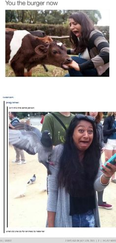 """Lol the last comment """"what did she do for those animals to hate her"""""""