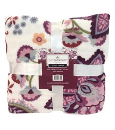 Buttercream™ Elizabeth Collection Fleece Throw | Classic and gorgeous throw blanket.