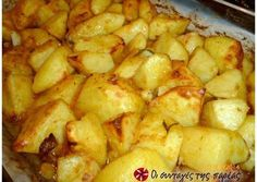 Cookbook Recipes, Cooking Recipes, Low Sodium Recipes, Greek Dishes, Potato Dishes, Roasted Potatoes, Fun Cooking, Greek Recipes, Tasty Dishes