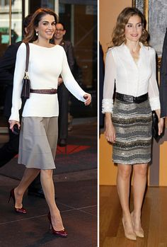 Clonando a una reina: busca las 11 diferencias entre Letizia Ortiz y Rania de Jordania Office Fashion, Work Fashion, Fashion 2017, Womens Fashion, Queen Rania, Queen Letizia, Queen Fashion, Royal Fashion, Chic Outfits