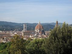 View of Florence from the Boboli Gardens at the Medici Palace....there's a wine bar from this vantage point.  A wonderful place to enjoy the view!