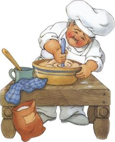 Chef / Images for decoupage / PassionForum Chef Pictures, Cute Clipart, Country Paintings, Le Chef, Decoupage Paper, Russian Recipes, Kitchen Art, Chef Kitchen, Kitchen Shop
