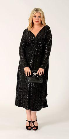 Dress V paillet allover  $315 (price in Euros)