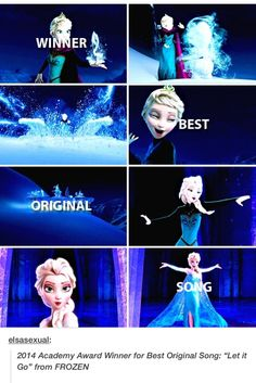 """Let It Go"" ~ Best Original Song Winner - WOOOOOOT!!!!"
