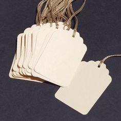 recycled gift tags- 30 manila folder blank tags DIY wedding favors. $6.00, via Etsy.