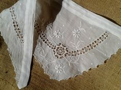1900's French Handmade Floral Batiste Lace by SophieLadyDeParis, $28.00