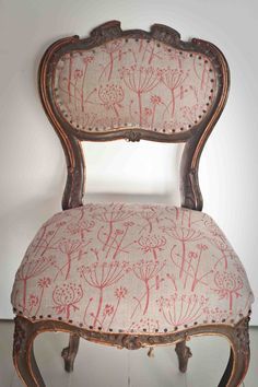 Ecotale fabric printed with Tussock patterned paint roller using Farow & Ball Dead Flat Rectory paint. The painted house