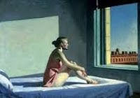 Edward Hopper - Morning Sun - Oil Reproduction on Canvas - Canvas Art & Reproduction Oil Paintings Morning Sun, Edward Hopper Paintings, Nostalgia, Andrew Wyeth, Going Solo, A Level Art, Cool Posters, American Art, Art Museum