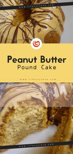This stunningly delicious Peanut Butter Pound Cake is a fun pound cake twist that will cause the fans of chocolate and peanut butter in your life love you forever. Peanut Butter Cups, Peanut Butter Pound Cake Recipe, Peanut Butter Recipes, Pound Cake Recipes, Muffin Recipes, Cupcakes, Cupcake Cakes, Bundt Cakes, Biscuits