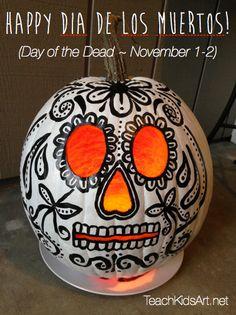 Happy Dia de los Muertos! Sugar Skull Pumpkin