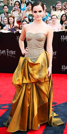 "Emma Watson in Bottega Veneta Fall 2011 at the N.Y. premiere of ""Harry Potter and the Deathly Hallows pt. 2"", July 2011"