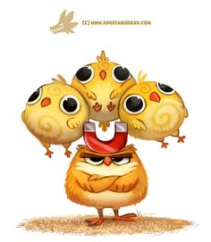 Daily Paint 1308. Chick Magnet by Cryptid-Creations.deviantart.com on @DeviantArt