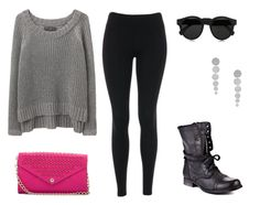 Kendall inspired outfit for a concert featuring leggings and combat boots. Requested by Anonymous.  Sweater: Rag & Bone. Purchase here for $350.  Leggings: Joy. Purchase herefor $19.  Boots: Steve Madden. Purchase herefor $100.  Bag: Rebecca Minkoff. Purchase herefor $225.  Earrings: Question Air. Purchase herefor $140.  Sunglasses: Illesteva Leonard. Purchase herefor $165.  -Shea xx