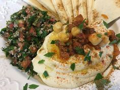 Christopher Kimball's Milk Street: The New Home Cooking & recipe for the world's most lickable hummus and tabbouleh – Jennifer Guerrero Israeli Hummus, Israeli Food, Israeli Recipes, Healthy Dips, Healthy Recipes, Salad Recipes, Healthy Food, Kitchen Recipes, Cooking Recipes