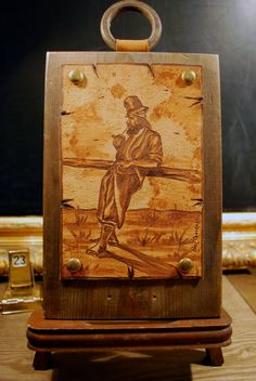 Rustic Studded Burned Leather Gaucho Portrait by TheHiddenRoom, $28.00