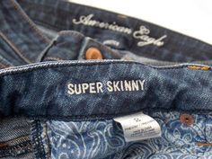 """Lot 2 Pairs AMERICAN EAGLE Jeans Super Skinny Size Two Regular EUC #AmericanEagle #Skinny - SOLD """"Thank you! I loved the jeans!"""""""