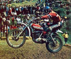 Gennady Moiseev Flat Track Racing, Off Road Racing, Old Scool, Motocross Riders, Off Road Bikes, Moto Cross, Custom Bobber, Motorcycle Types, Vintage Motocross