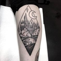 Just In Black Ink Minimalist Harry Potter tattoo