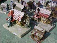 Christmas Village Houses and train layouts of the 1920s.