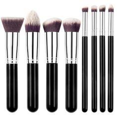 Three Colors 8PCS Makeup Brushes Make Up Cosmetics Foundation Blending Makeup Brush Kit Set Wooden Makeup tool Free shipping