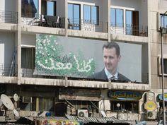 https://flic.kr/p/3dMSYH | Bashar al-Assad propaganda | Typical propaganda poster featuring Syrian president Bashar al-Assad.  His image is all over the country.