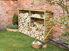 Large Wooden Log Store For Firewood Log Storage By Rowlinson, Http://www