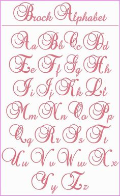 This is a beautiful, elegant alphabet that you\'ll want to use whenever you\'re looking for the perfect letters for a monogram. The upper case letters stitch at 1000 Ideas About Pretty Fonts Alphabet On pretty alphabet letters font www imgkid the image T Pretty Fonts Alphabet, Calligraphy Fonts Alphabet, Tattoo Lettering Fonts, Hand Lettering Alphabet, Graffiti Lettering, Lettering Styles, Tattoo Alphabet, Handwriting Fonts Alphabet, Fancy Handwriting