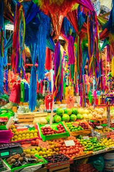 Colorful Market in Mexico City Mexico Travel Destinations Honeymoon Backpack Backpacking Vacation Budget Bucket List Wanderlust Mexico Resorts, Tulum Mexico, Mexico Honeymoon, México Riviera Maya, Mexico Wallpaper, Mexico Culture, México City, Capital City, Argentine