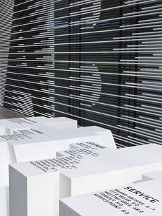 büro uebele // adidas laces signage system and interior design herzogenaurach 2011. Fantastic environmental branding for Adidas.