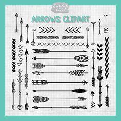 VECTOR Hand Drawn clipart arrows