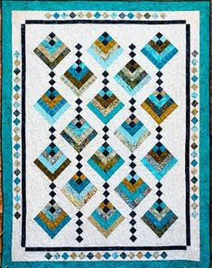 """This quilt was designed for 2 1/2"""" Strips. What a perfect name for this elegant quilt. The little four patch between the blocks gives the effect of hanging blooms. And the piecework in the border adds"""
