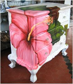New Life of Old Furniture - DIY Transformation. You can always add color to the apartment like this :-)
