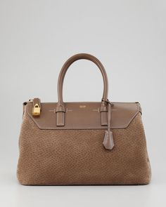 Peccary Petra Bag - Tom Ford ( Top handle Bowlers Leather Brown)