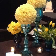 Yellow Wedding centerpiece