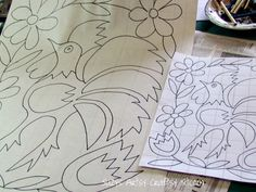 How to Enlarge Patterns- think about enlarging shapes for fabric printing.