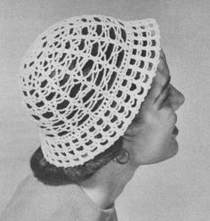 Lacy Cloche Hat Vintage Crochet Pattern to download