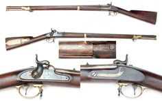 """Model 1841 Mississippi Rifle by Robbins, Kendall & Lawrence - Made at their factory in Windsor, Vermont, this is one of about 10,000 made by this contractor. The lock is marked """"Windsor, VT / 1847"""" behind the hammer, and in front of the hammer the lock plate is marked """"ROBBINS/KENDALL &/LAWRENCE/U.S."""" This gun is also stamped """"OHIO"""" in the wood opposite the lock."""