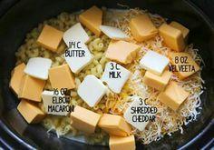 Pip & Ebby - Pip-Ebby - Crockpot mac and cheese Crockpot Mac N Cheese Recipe, Crockpot Dishes, Crock Pot Cooking, Mac Cheese Recipes, Slow Cooker Recipes, Crockpot Recipes, Cooking Recipes, Vegetarian Recipes, Making Mac And Cheese