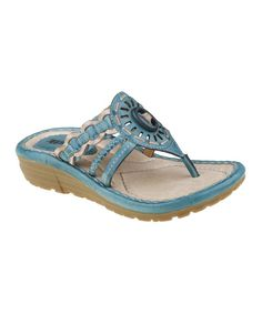 Take a look at this Earth Light Teal Gale Sandal on zulily today!