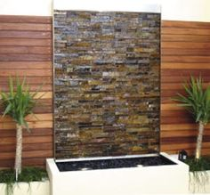38 Amazing Outdoor Water Walls For Your Backyard with grey natural