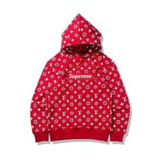 Supreme Pullover, Supreme Sweater, Celebrity Casual Outfits, Dope Outfits, Hoodie Sweatshirts, Lacoste, Supreme Lv, Supreme Merch, Black Top And Jeans